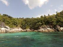 在Raya海滩2附近的海岛 库存图片