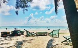在rayong泰国的Maerampung海滩 免版税库存图片