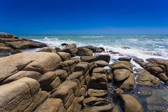 在Rayong海滩的海岸 库存照片