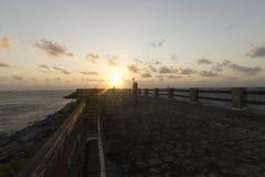 在Redinha海滩的日出 库存图片
