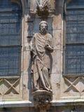 在Regensburger大教堂的外部的装饰 免版税库存照片