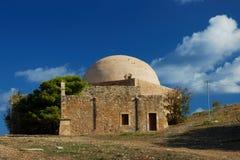 在Rethymnon堡垒的Mosquee  免版税库存图片
