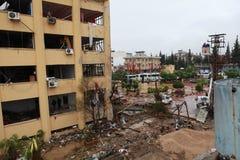 在REYHANLİ, HATAY的炸弹 库存图片