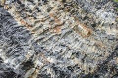 在Reynisdrangar,冰岛的Vulcanic岩石 免版税图库摄影