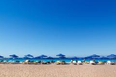 在RHODOS希腊的海海滩 图库摄影