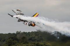在RIAT的比利时人F-16 库存图片