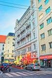 在Riemergasse的街道在维也纳 库存图片