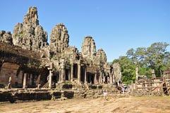 在riep siem寺庙附近的bayon柬埔寨 免版税库存照片