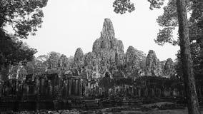 在riep siem寺庙附近的bayon柬埔寨 库存图片