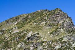 在Rila山的峰顶 免版税库存图片