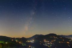 在Rinchenpong,印度的晚上天空 免版税图库摄影