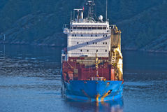 在ringdalsfjord,图象10的大船 免版税库存图片