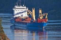 在ringdalsfjord,图象3的大船 图库摄影