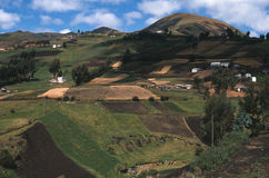 在riobamba农村场面附近的ecua 免版税库存照片