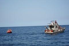 在Riserva dello吉普赛人的小船航行 库存照片
