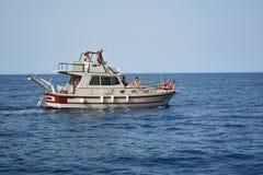 在Riserva dello吉普赛人的小船航行 免版税库存图片