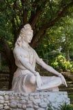 在Rishikesh的Shiva雕象,印度 户外 免版税库存图片