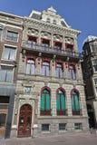 在Rokin,阿姆斯特丹中心的历史豪宅 库存照片