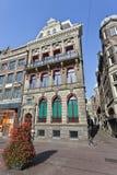 在Rokin,阿姆斯特丹中心的历史豪宅 图库摄影
