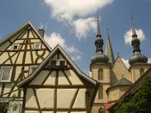 在Romantische Strasse的历史的看法 免版税库存图片