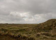 在Romo海岛,丹麦上的沙丘地区 图库摄影