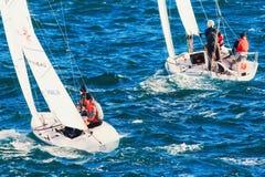 在Roquebrune盖帽马丁的赛船会 库存图片
