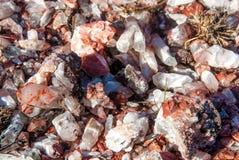 在Roraima Tepui, Gran Sabana山顶的被结晶的矿物  库存照片
