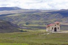 在Roraima tepui -委内瑞拉附近的老教会 库存图片