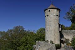 在Rothenburg ob der陶伯,德国的处罚塔 库存图片