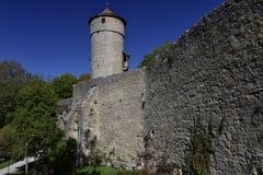 在Rothenburg ob der陶伯,德国的处罚塔 免版税库存图片