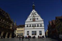在Rothenburg ob der陶伯,德国的市议会Travern 库存图片