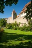 在Rothenburg ob der Tauber的西部城市墙壁 免版税库存图片