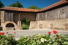 在Rothenburg ob der Tauber的门Rödertor 免版税库存照片