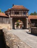 在Rothenburg ob der Tauber的Rödertor 图库摄影