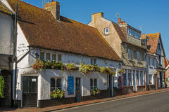 在Rottingdean,苏克塞斯,英国的大街 免版税库存图片
