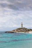 在Rottnest海岛上的巴瑟斯特灯塔 库存照片