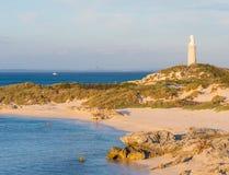 在Rottnest海岛上的巴瑟斯特灯塔 库存图片