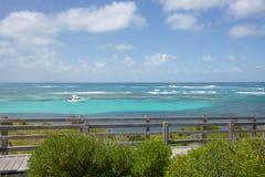 在Rottnest海岛的假日风帆 免版税图库摄影
