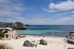 在Rottnest海岛的家庭度假 免版税库存照片
