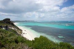 在Rottnest海岛的沿海看法 免版税图库摄影