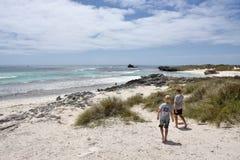 在Rottnest海岛的水池海滩 免版税库存图片