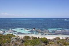 在Rottnest海岛,澳大利亚西部,澳大利亚的海滩 库存照片