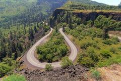 在Rowena冠的老哥伦比亚高速公路 库存图片