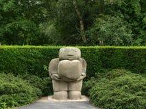 在Rufford修道院诺丁汉的石雕塑在舍伍德森林英国附近 免版税库存图片