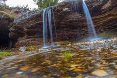 在RuiÅ ¡ te,波黑的瀑布 图库摄影