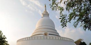 在Rumassala,加勒, Sri的日语和平塔 免版税库存照片