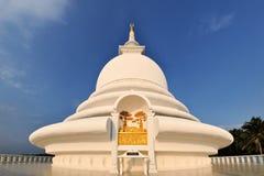 在Rumassala,加勒, Sri的日语和平塔 免版税图库摄影