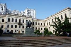在Rustaveli大道,第比利斯的老议会大厦 库存照片