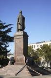 在Rustaveli广场的Rustaveli纪念碑在第比利斯 佐治亚 免版税库存图片