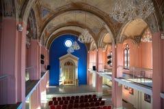 在Ruzomberok,斯洛伐克的犹太犹太教堂 库存图片